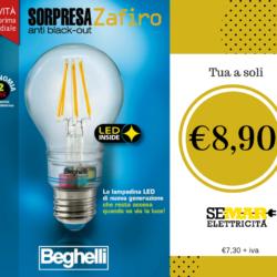 Nasce sorpresa Beghelli, lampada a Led anti Black-Out