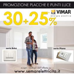 Si rinnova la Promo 30%+25% su placche e punti luce Vimar