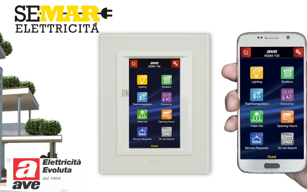 Da AVE arriva l'evoluto mini Touch Screen per hotel