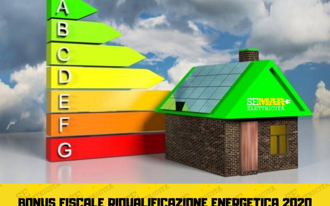 Bonus Fiscale 2020 per riqualificazione energetica